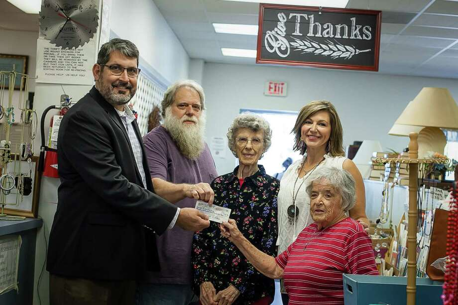 Pictured from left to right: Dr. Keith Moore, Crosby ISD Superintendent; Scott Keaton, CUIC Board President; Inez Jones, CUIC Board Member; Lee Moore (wife of Dr. Keith Moore and Crosby ISD coordinator) and Beverly Silverman, CUIC Board Member. Photo: Viviana Killion, Crosby ISD Director Of Community Relations