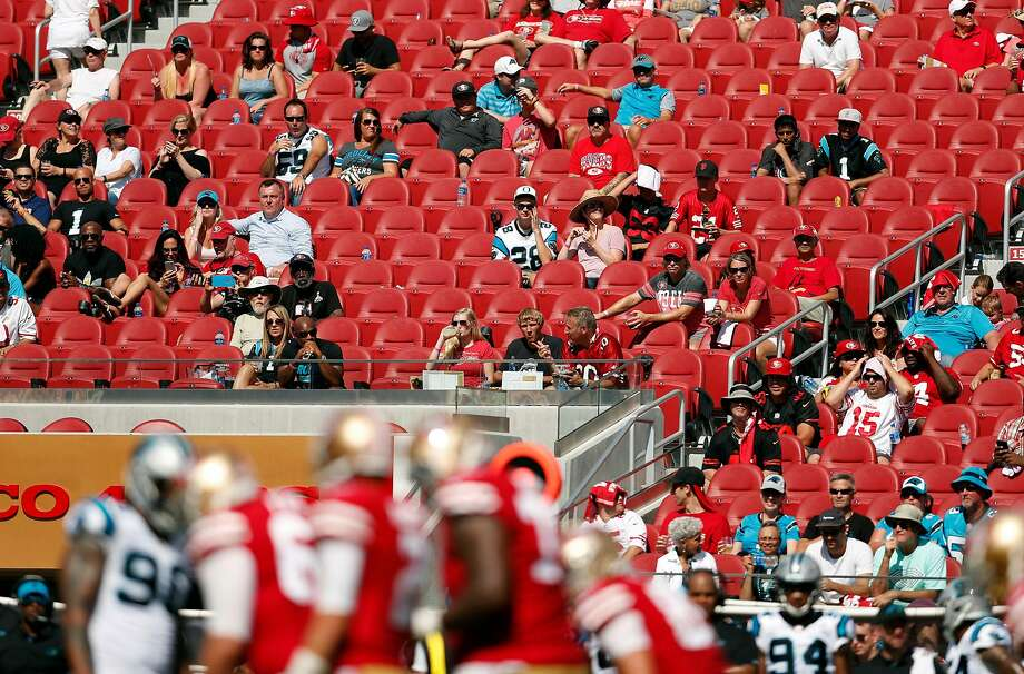No shocker here: The awful 49ers are having a tough time getting fans in seats. Photo: Scott Strazzante, The Chronicle
