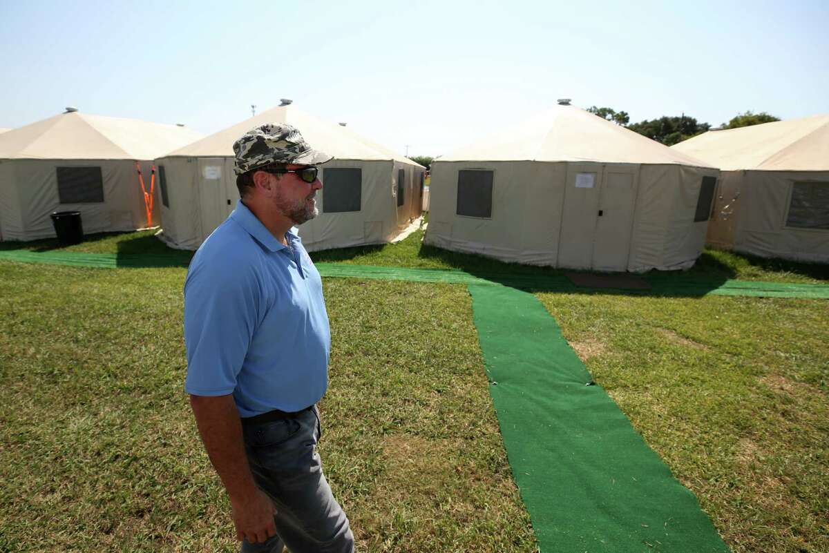 Farmers Village at Wake Nation Houston co-mayor Jeff Losey is among the employees who are staying at the village Tuesday, Sept. 12, 2017, in Rosharon, Texas. Renting the private space meant the company would not be using as many hotel rooms within the Houston area. ( Godofredo A. Vasquez / Houston Chronicle )