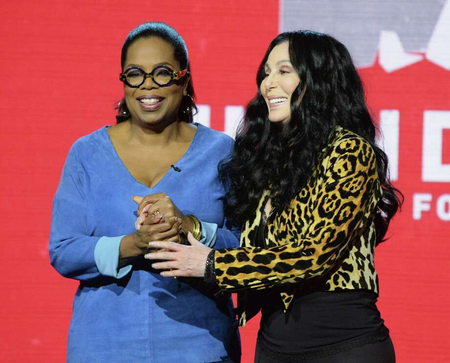 UNIVERSAL CITY, CA - SEPTEMBER 12:  In this handout photo provided by Hand in Hand, Oprah Winfrey and Cher attend Hand in Hand: A Benefit for Hurricane Relief at Universal Studios AMC on September 12, 2017 in Universal City, California. Photo: Kevin Mazur/Hand In Hand, Getty Images / 2017 Kevin Mazur