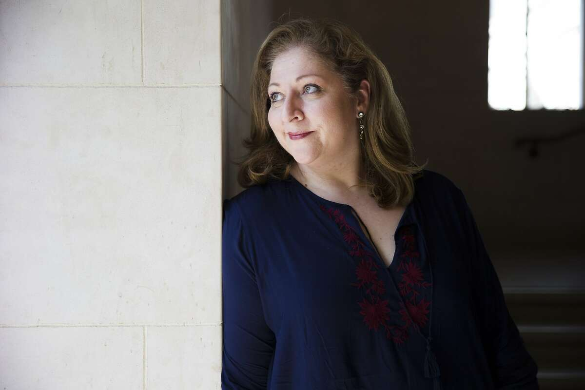 """Christine Goerke stands for a portrait at the War Memorial Opera House on Tuesday, Sept. 12, 2017, in San Francisco, Calif. Goerke is the star of S.F. Opera's runaway hit production """"Elektra."""""""