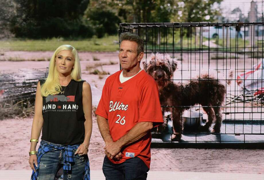 PHOTOS: Hurricane Harvey's toll on Texas Gwen Stefani and Dennis Quaid attend Hand in Hand: A Benefit for Hurricane Relief at Universal Studios AMC on September 12, 2017 in Universal City, California.See some of the most iconic photos to be captured from Hurricane Harvey...  Photo: Kevin Mazur/Hand In Hand, Getty Images / 2017 Kevin Mazur