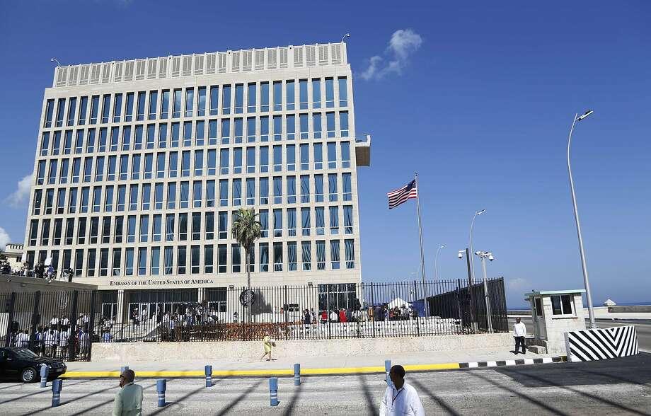 A U.S. flag flies at the U.S. Embassy in Havana, Cuba. Photo: Desmond Boylan, Associated Press