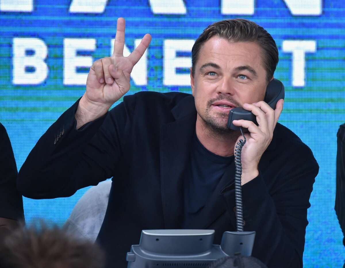 NEW YORK, NY - SEPTEMBER 12: In this handout photo provided by Hand in Hand, Leonardo DiCaprio attends Hand in Hand: A Benefit for Hurricane Relief at ABC News' Good Morning America Times Square Studio on September 12, 2017 in New York City. (Photo by Theo Wargo/Hand in Hand/Getty Images)