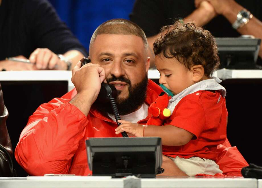 UNIVERSAL CITY, CA - SEPTEMBER 12:  In this handout photo provided by Hand in Hand, DJ Khaled and Asahd Khaled attend Hand in Hand: A Benefit for Hurricane Relief at Universal Studios AMC on September 12, 2017 in Universal City, California.  (Photo by Kevin Mazur/Hand in Hand/Getty Images) Photo: Kevin Mazur/Hand In Hand/Getty Images