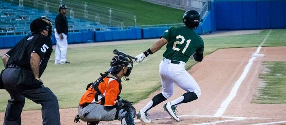Former Alexander and TAMIU baseball player Fernando Garza was named the 2017 Pecos Leagues Pacific Division Hitter of the Year in his rookie season professionally for the Tucson Saguaros. Photo: Courtesy Of The Pecos League