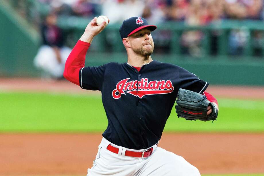 CLEVELAND, OH - SEPTEMBER 12: Starting pitcher Corey Kluber #28 of the Cleveland Indians pitches during the first inning against the Detroit Tigers at Progressive Field on September 12, 2017 in Cleveland, Ohio. (Photo by Jason Miller/Getty Images) ORG XMIT: 700012430 Photo: Jason Miller / 2017 Getty Images