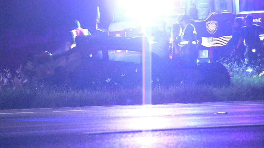 The driver crashed in to the pole around 1:10 a.m. on Sept. 13, 2017, while traveling southbound on U.S. Highway 281 near Encino Rio. Photo: Ken Branca