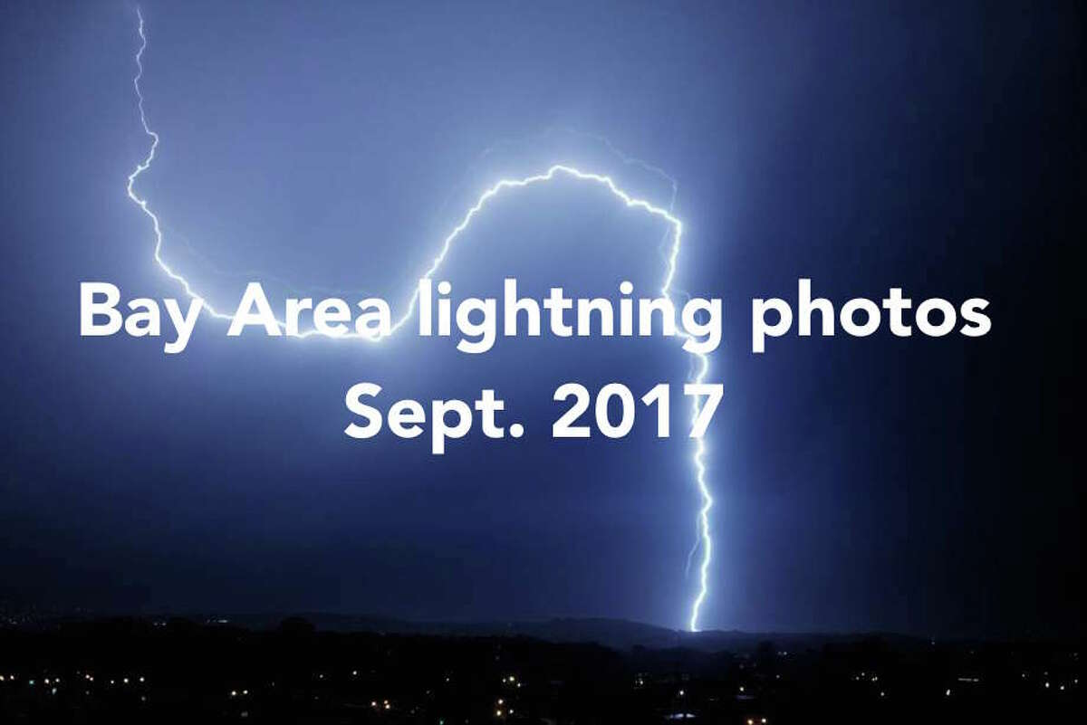 Lightning strike over San Francisco taken from the Sunset District on Sept. 11, 2017, at 9:38 p.m.