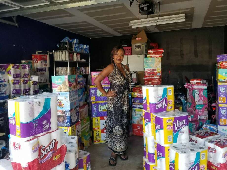 Kimberly Gager has stocked up her garage with products to give Harvey victims. >>See local charities you cant donate to.