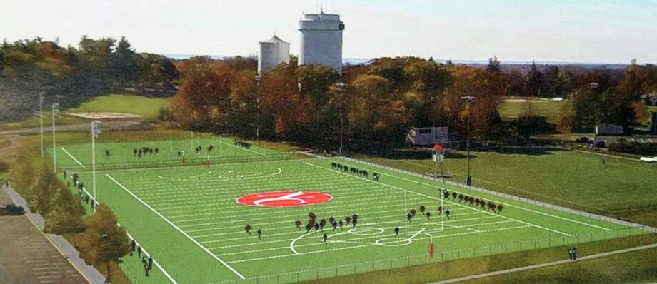 A rendering of the finished Water Tower Turf Field One at New Canaan High School. Photo: Contributed Photo / New Canaan News