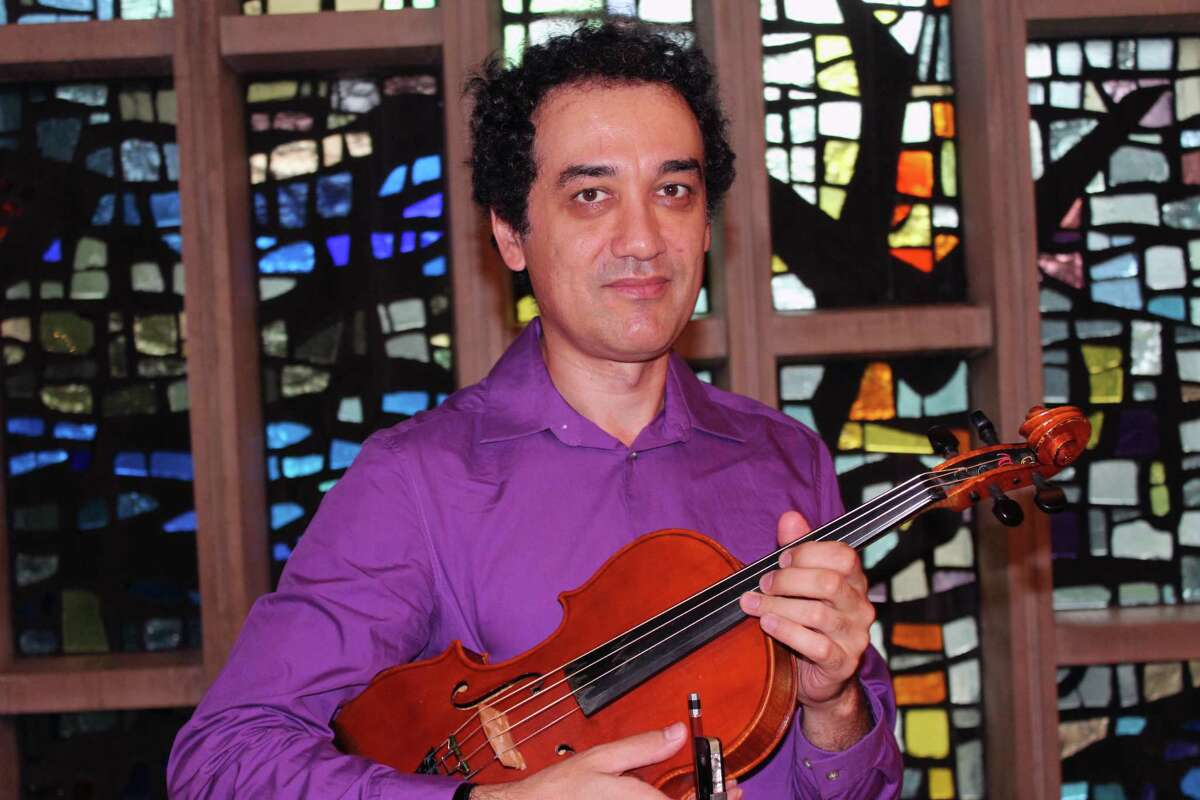 Yaroslav Kargin in the chapel of St. Mark's Episcopal Church in New Canaan on Sept. 7