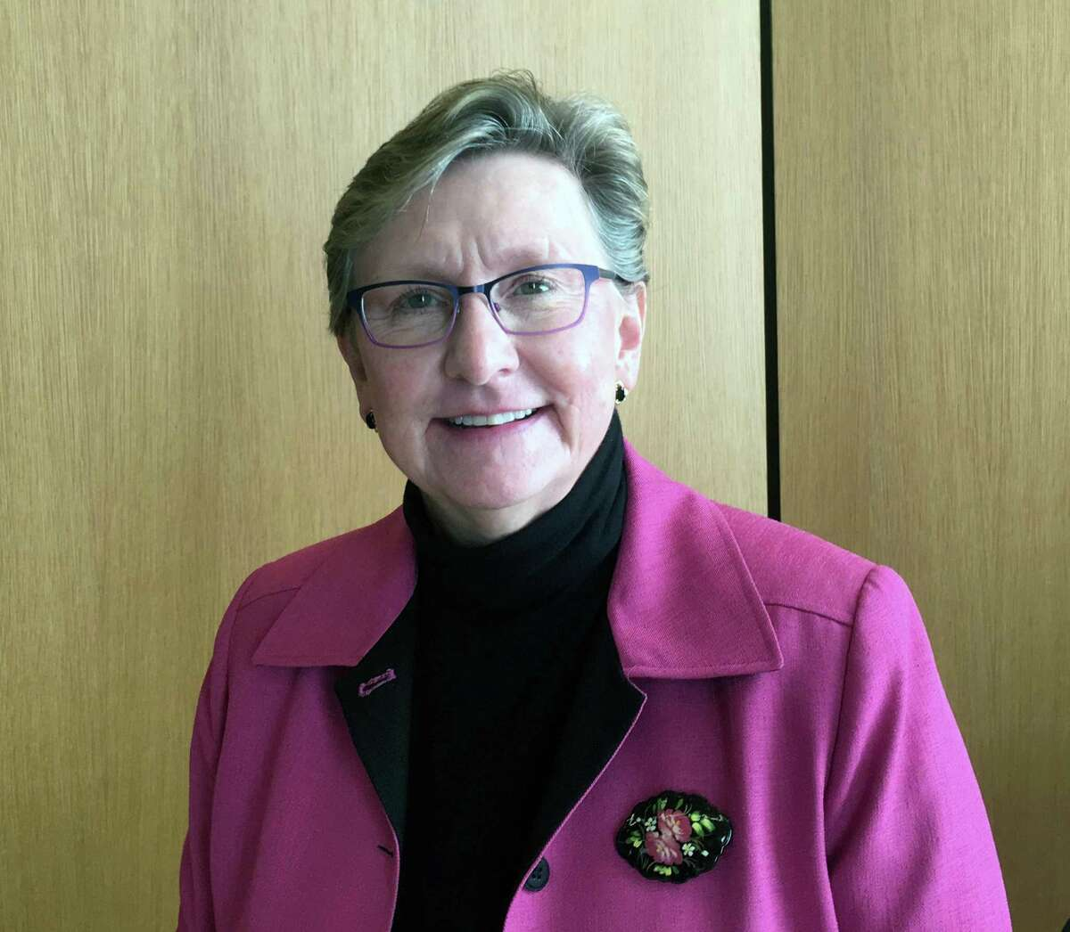 Sandra Dennies was appointed as the town's interim Chief Financial Officer by the Board of Selectmen on Tuesday, May 2, 2017 in New Canaan, Conn.