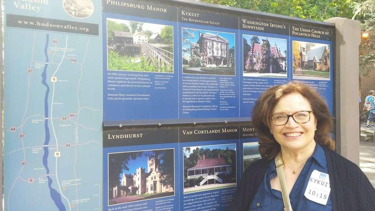 Marsha at the Historic Hudson visitors center.