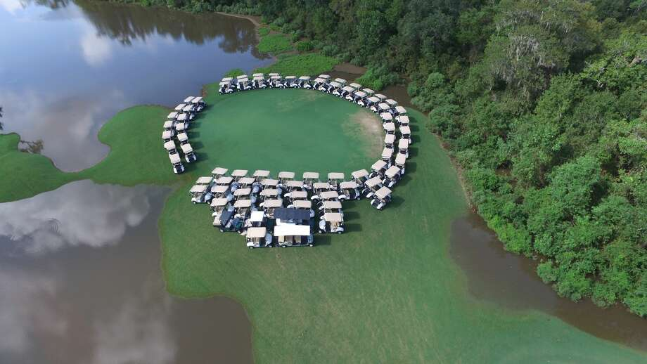 Workers at The Wilderness at Lake Jackson golf club were able to save golf carts and equipment with some creative thinking before Hurricane Harvey hit East Texas. Photo: KemperSports
