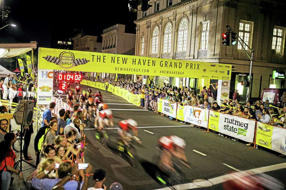 The racing scene last year in downtown New Haven. Photo: Contributed