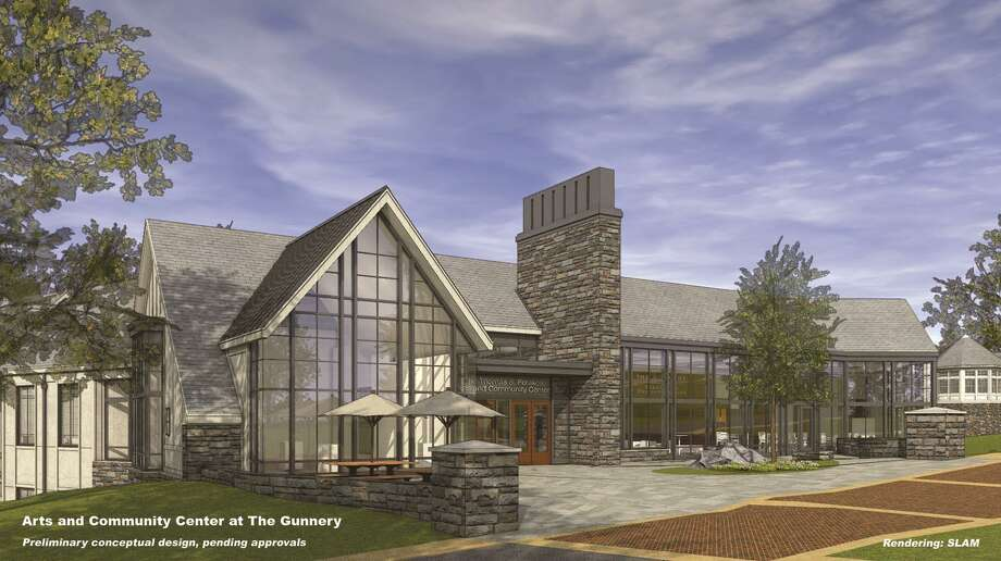Above is a preliminary conceptual rendering, by SLAM architects, of the proposed new arts and community center at The Gunnery in Washington. Photo: Courtesy Of Gunnery / The News-Times Contributed
