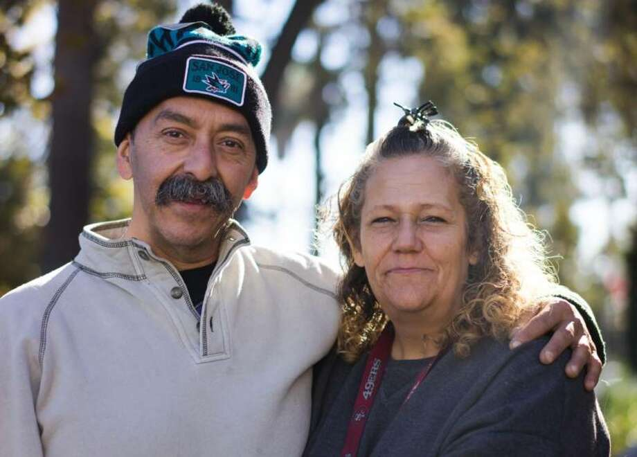 Brian and Andrea Rodriguez have been living on San Jose's streets and creeks for the better part of two years now. Photo: James Tensuan/KQED