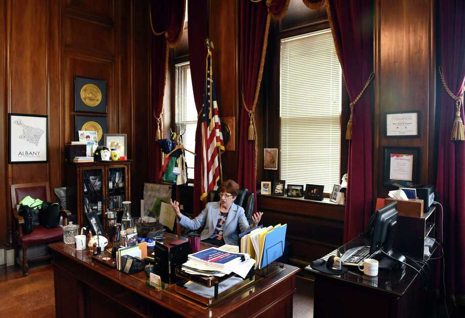 Albany Mayor Kathy Sheehan is interviewed in her City Hall office on Wednesday, Sept. 13, 2017, in Albany, N.Y. (Will Waldron/Times Union) Photo: Will Waldron, Albany Times Union / 40041547A