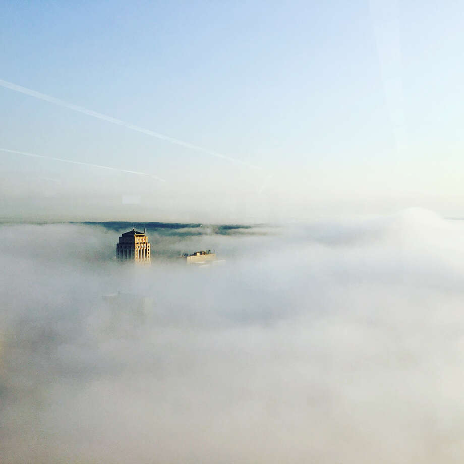 "Eratus Corning Tower: ""It's a foggy morning. #view #35thfloor"" — @queenkeva75 Photo: @queenkeva75 / Instagram"