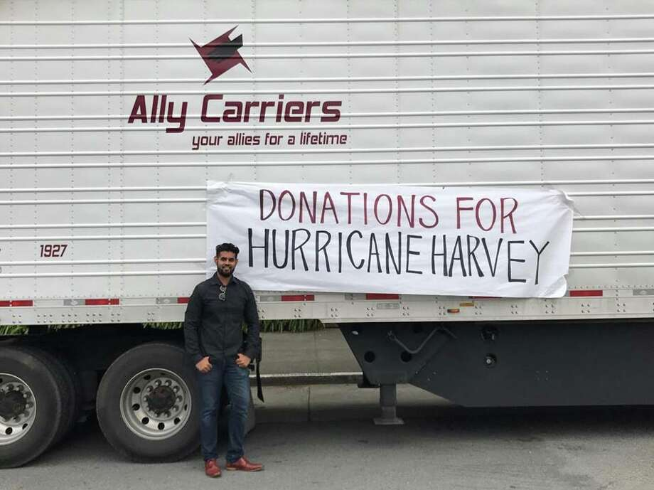 USF student Bobby Basra, pictured above, is collecting a truckload of donations for Hurricane Harvey victims in Houston, TX. Photo: Courtesy: Bobby Basra