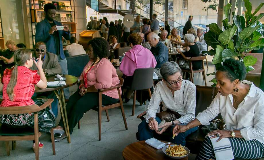 People have dinner at B-Side in San Francisco. Photo: John Storey, Special To The Chronicle