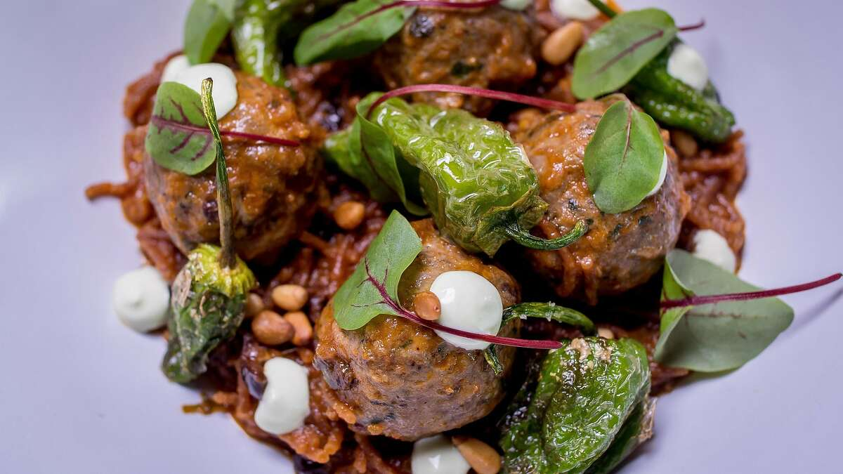 The Lamb Meatballs at Barcino in San Francisco, Calif., are seen on September 10th, 2017.