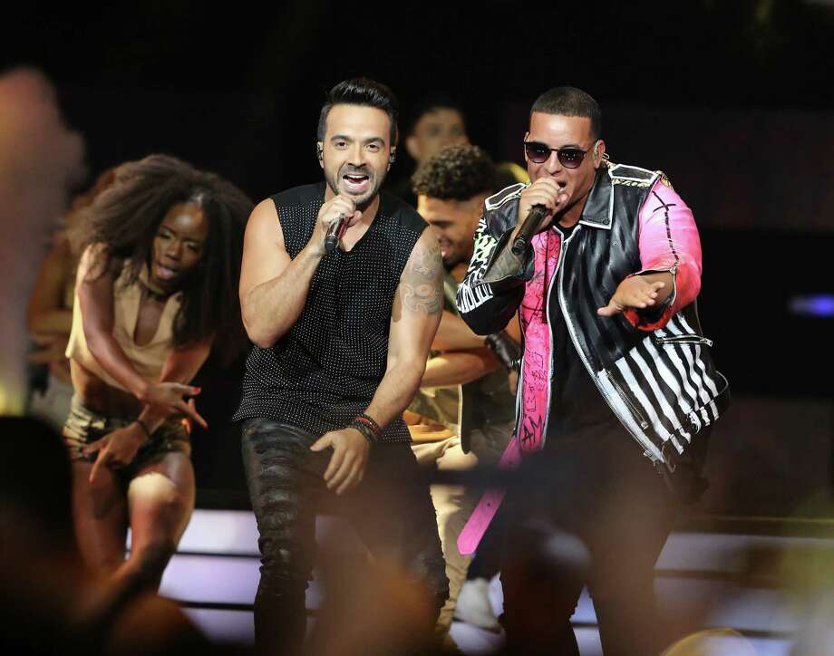 Luis Fonsi and Daddy Yankee perform during the Billboard Latin Music Awards at the Watsco Center on April 27, 2017 in Miami, Fla. (Alberto E. Tamargo/Sipa USA/TNS) Photo: Alberto E. Tamargo, MBR / Sipa USA