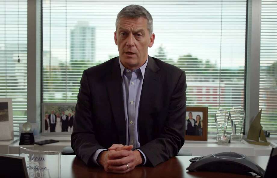 John Driscoll, the Stamford millionaire CEO of CareCentrix, appears in a commercial released Wednesday by the Service Employees International Union 1199 New England calling for higher taxes on the state's wealthiest residents. Photo: YouTube / Contributed Photo / Connecticut Post Contributed