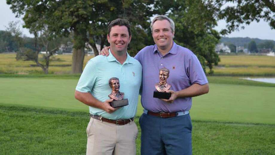 Benjamin Day and Timothy Kane of New Haven Country Club captured the Courville Tournament championship with a score of 8–under 134 by a match of cards over Tim Murphy and Dan Murphy of Country Club of Fairfield and H. Smith Richardson. Photo: John Nash / Hearst Connecticut Media / Norwalk Hour