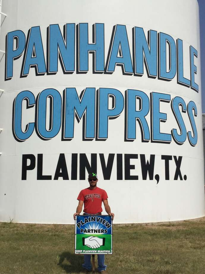 Panhandle Compress in Plainview, represented by Manager Justin Stark, is the September recipient of the Keep Plainview Beautiful Partners Award, presented by the Keep Plainview Beautiful Committee.