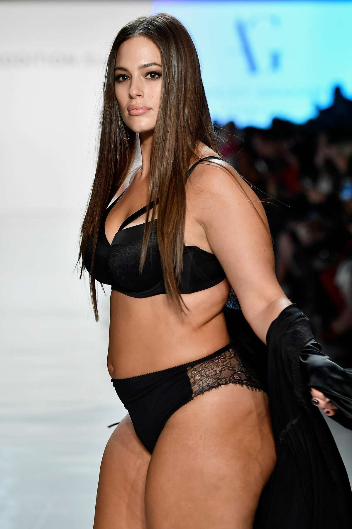 Model Ashley Graham walks the runway for ADDITION ELLE NYFW September 2017 Runway Presentation on September 11, 2017. Here's the full look...