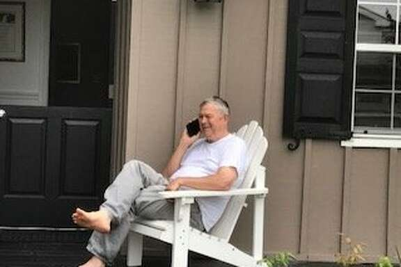 Rep. Dana Rohrabacher at his Costa Mesa home in August 2017