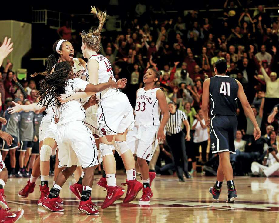 Nov. 12 vs. Stanford (Nationwide Arena, Columbus, Ohio), 1:30 p.m. ESPN: Stanford has ended two of UConn's four longest winning streaks and a Stanford win would mark first time UConn has lost consecutive games since March, 1993. / AP