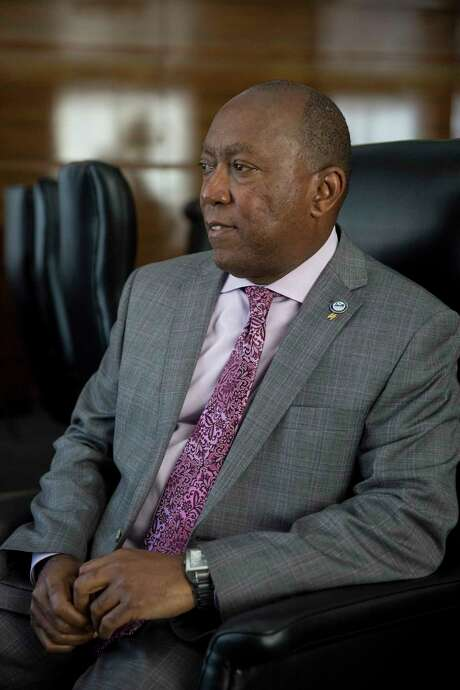 Houston Mayor Sylvester Turner in his office on Feb. 15, 2017. (Ilana Panich-Linsman/The New York Times) Photo: ILANA PANICH-LINSMAN, STR / NYTNS