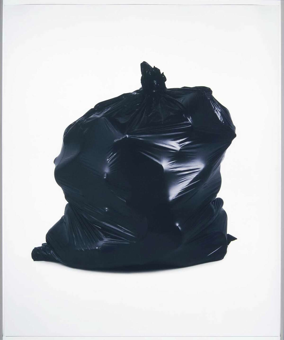 """""""Black Sack 2"""" from the series """"Trash Bags"""" by Chuck Ramirez."""