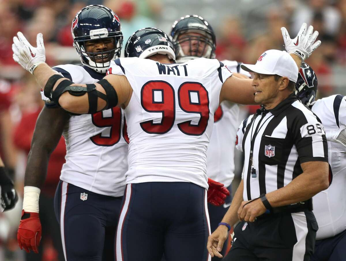 TEXANS' THREE KEYS TO VICTORY 2. The defense, especially the front seven, has to get pressure on Tom Brady. They need to hit him and disrupt his timing.