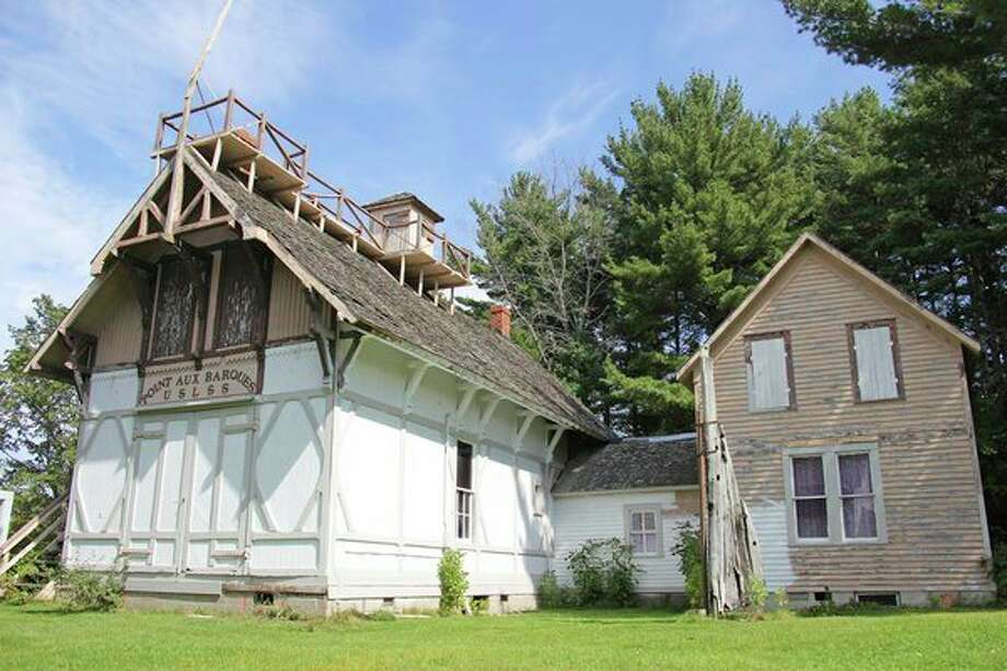 The historicPointe aux Barques Life Saving Station will soon be moved from the Huron City Museums complex to its former home next to thePoint aux Barques Lighthouse. (Seth Stapleton/Huron Daily Tribune)
