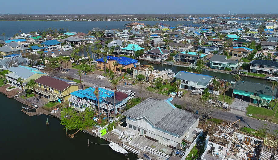 Homes in the Key Allegro section of Rockport-Fulton were heavily damaged as the area took a direct hit from Hurricane Harvey on August 25. Photo: Mark Mulligan, Houston Chronicle / 2017 Mark Mulligan / Houston Chronicle