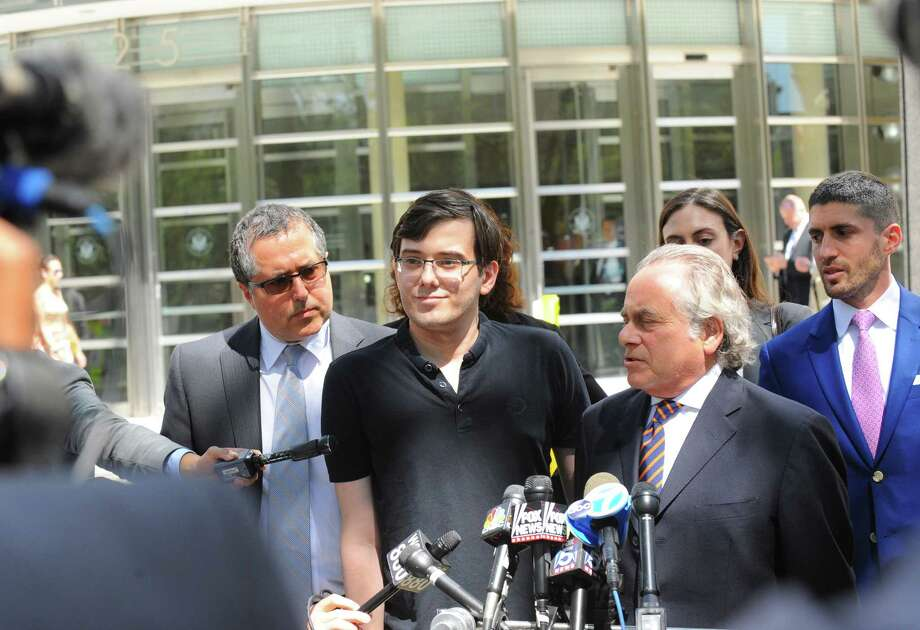Martin Shkreli, shown in August after his conviction, was sent to jail Wednesday after his bail was revoked. Photo: LOUIS LANZANO, STR / NYTNS