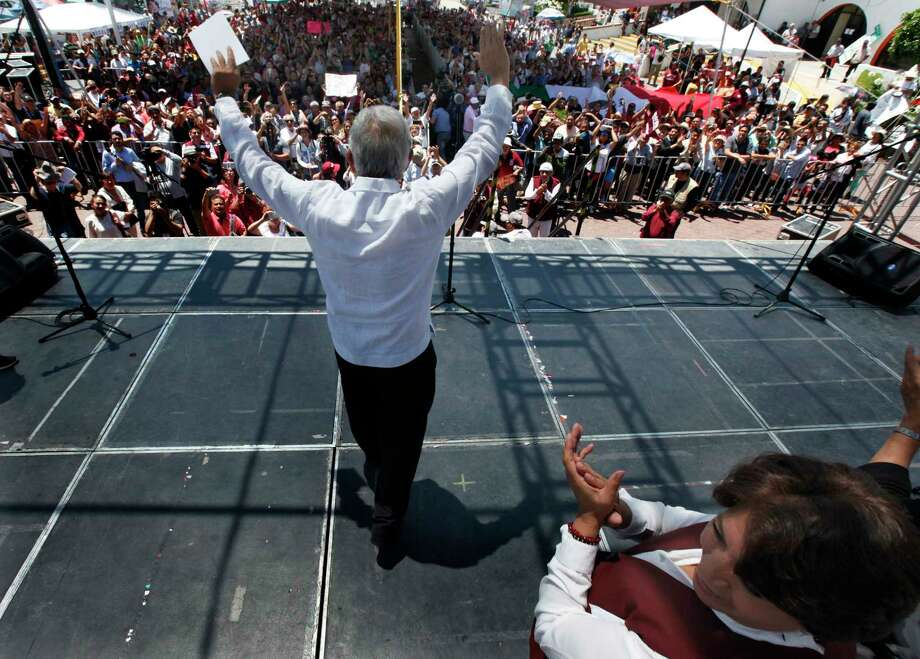 Andres Manuel Lopez Obrador has said that if elected president of Mexico, he would hold a referendum on energy reforms.  Photo: Marco Ugarte, STF / Copyright 2017 The Associated Press. All rights reserved.