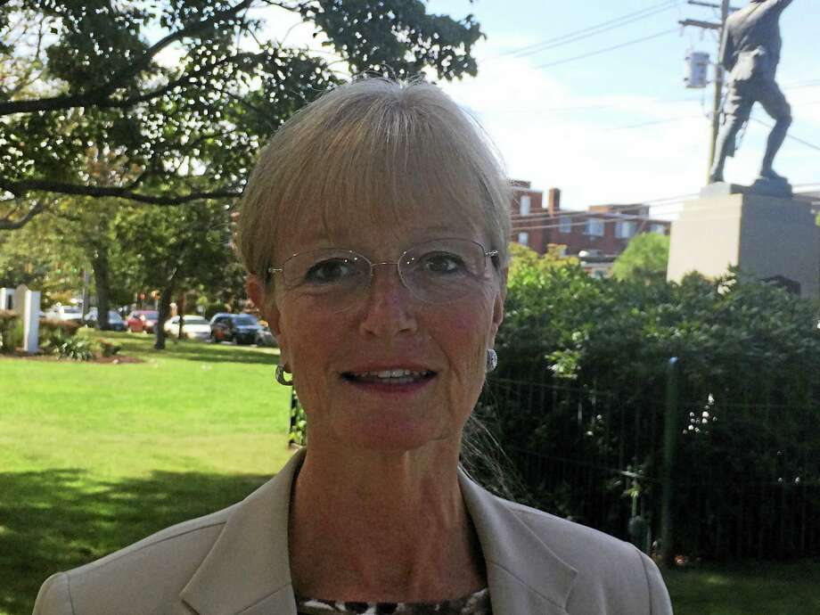 Mark Zaretsky / hearst connecticut media Nancy Rossi, who defeated Mayor Ed O'Brien Tuesday in a Democratic primary, on the West Haven Green