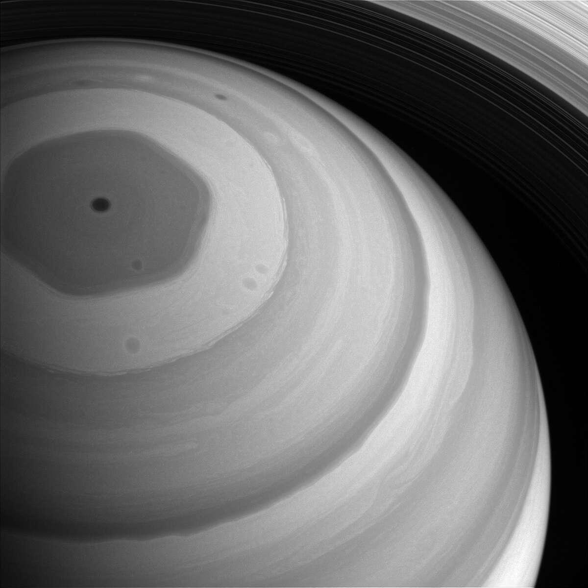 Saturn's north pole Date taken: December 26, 2016