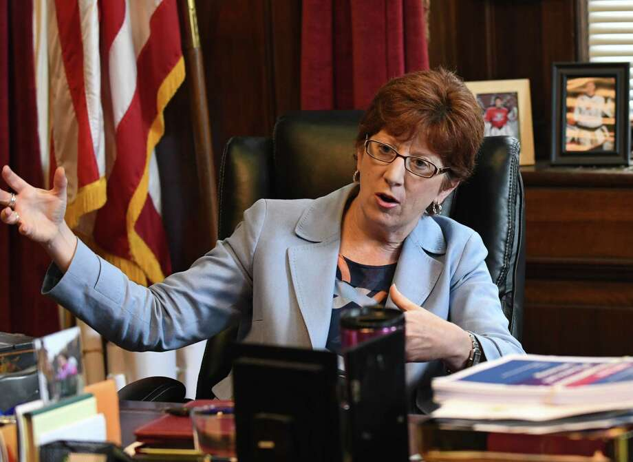 Albany Mayor Kathy Sheehan is interviewed in her City Hall office on Wednesday, Sept. 13, 2017, in Albany, N.Y. (Will Waldron/Times Union) Photo: Will Waldron / 40041547A