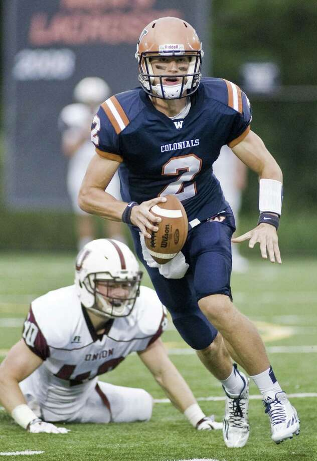 FILE PHOTO: WCSU Colonials quarterback Will Arndt looks for a receiver during a game against Union College, played at Western Connecticut State University Westside Athletic Complex. Saturday, Sept. 12, 2015 Photo: SCOTT MULLIN / / Scott Mullin ownership