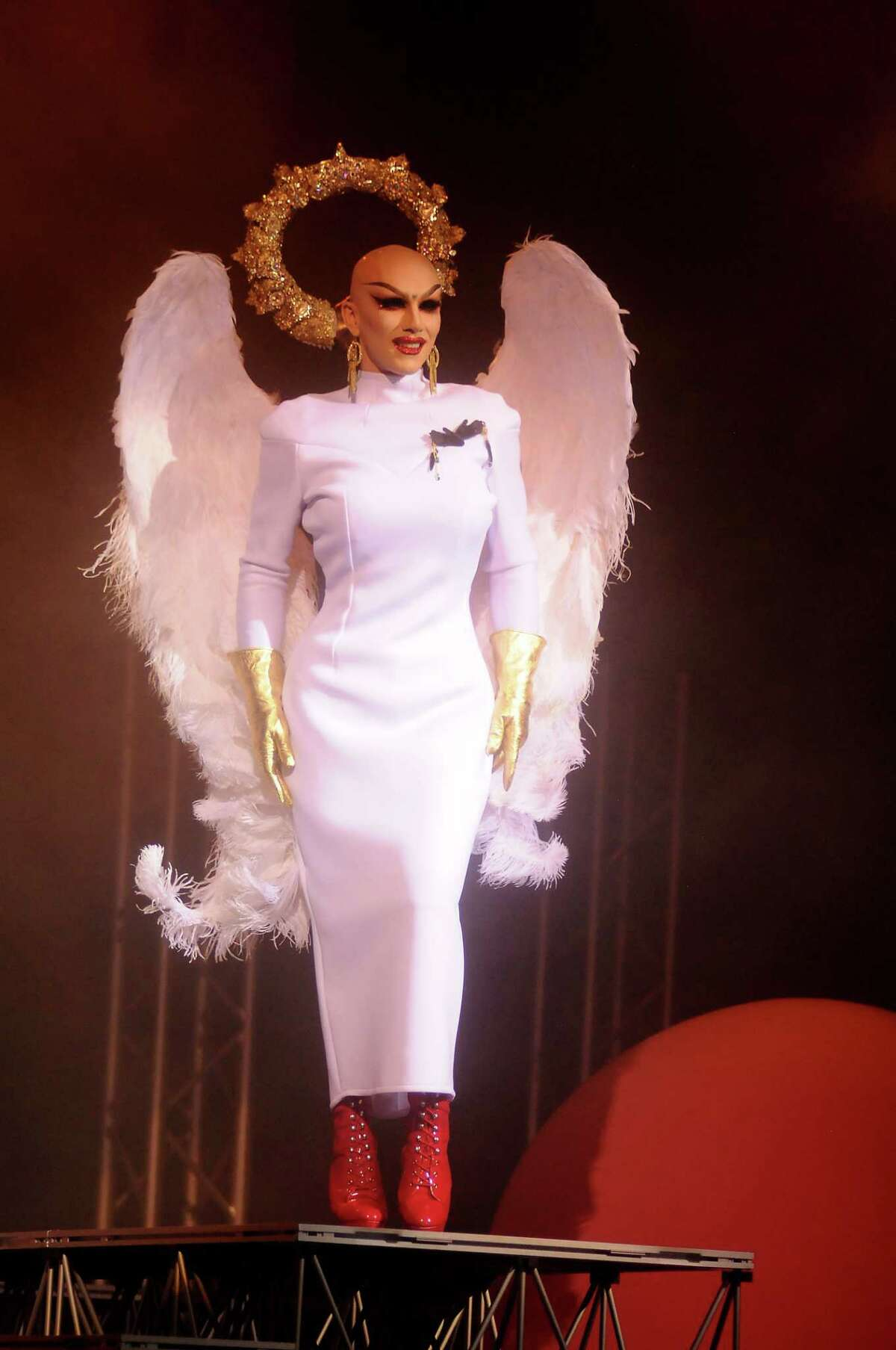 Sasha Velour performs at the War on the Cat Walk featuring contestants from RuPaul's Drag Race at the House of Blues Wednesday Sept. 13, 2017.(Dave Rossman Photo)