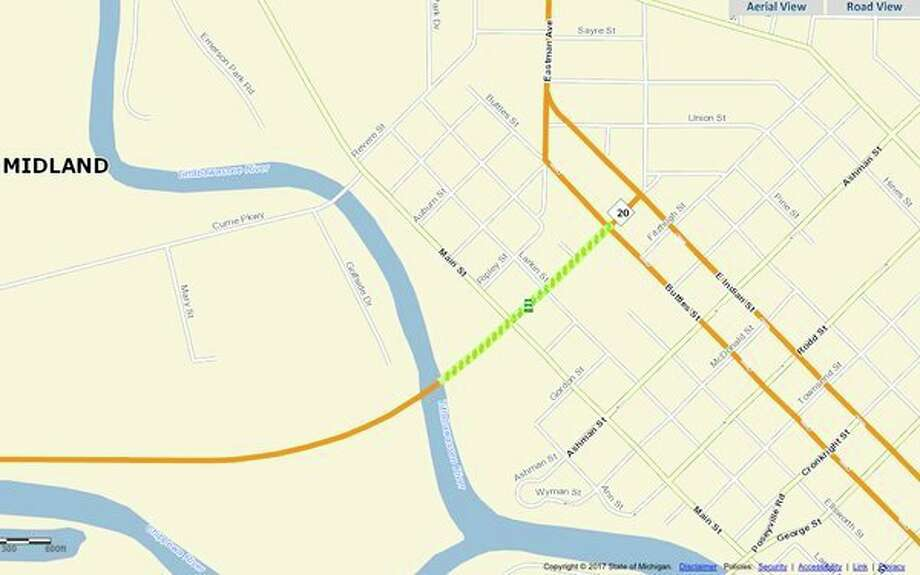 The Michigan Department of Transportation will spend $137,000 to resurface M-20 from the Tittabawassee River bridge to Buttles Street. (Provided by MDOT)