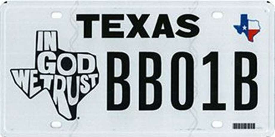 Texas Gov. Greg Abbott signed a bill that instructed the Department of Motor Vehicles to create the specialty plate. Click ahead to see license plates rejected by the Texas DMV in 2017. Photo: Courtesy