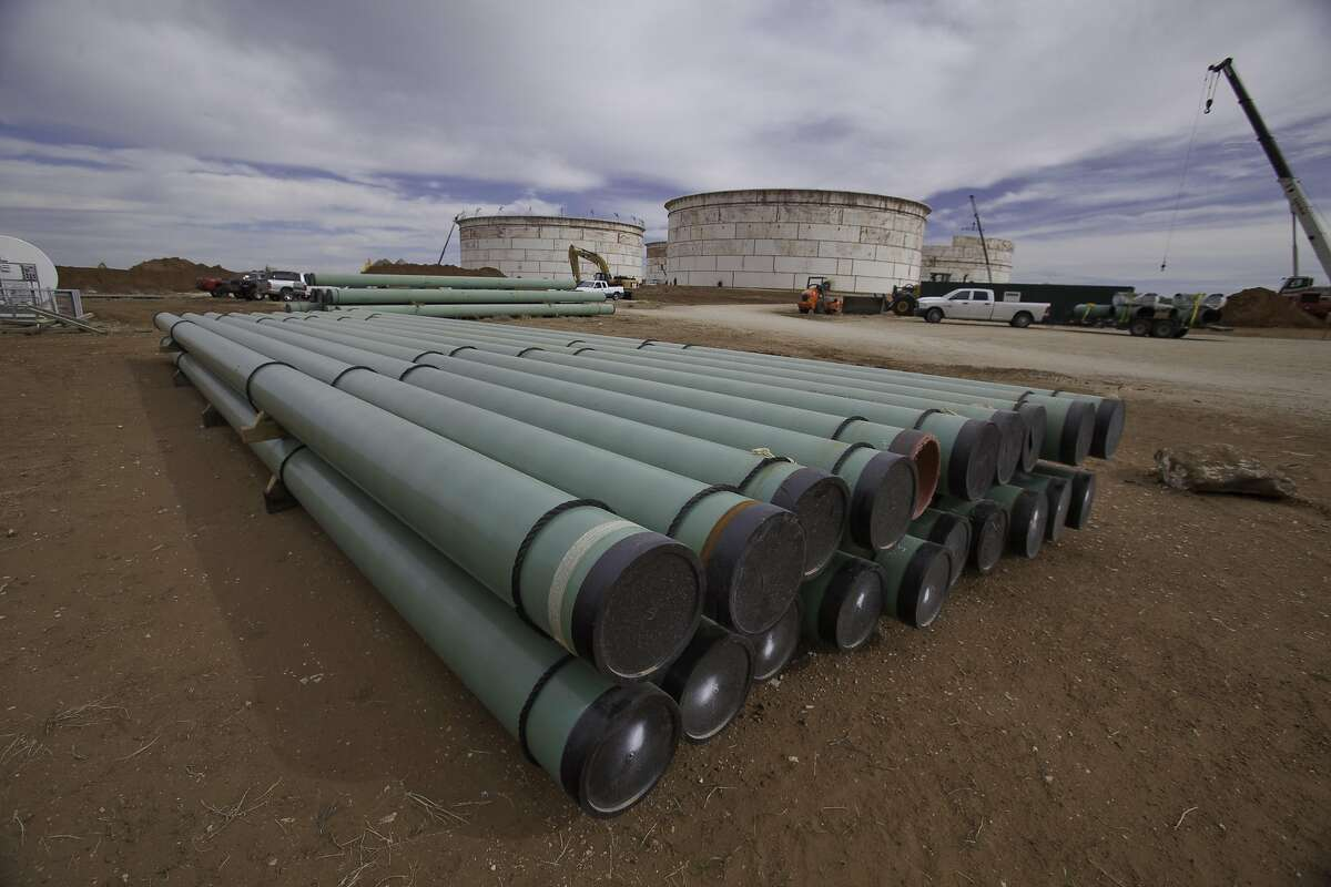 The massive BridgeTex Pipeline was completed in 2014 and terminates in east Houston. The pipeline - owned by Magellan Midstream and Plains All American Pipeline - carries Permian Basin crude oil from Colorado City to Houston.