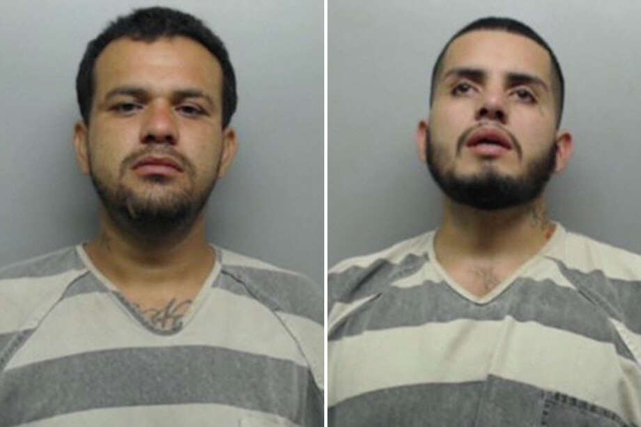 Alejandro Espinoza-Melendez, 30, and Juan Andres Melendez, 26, were served with an arrest warrant charging them with deadly conduct, discharge of a firearm. Photo: Webb County Sheriff's Office
